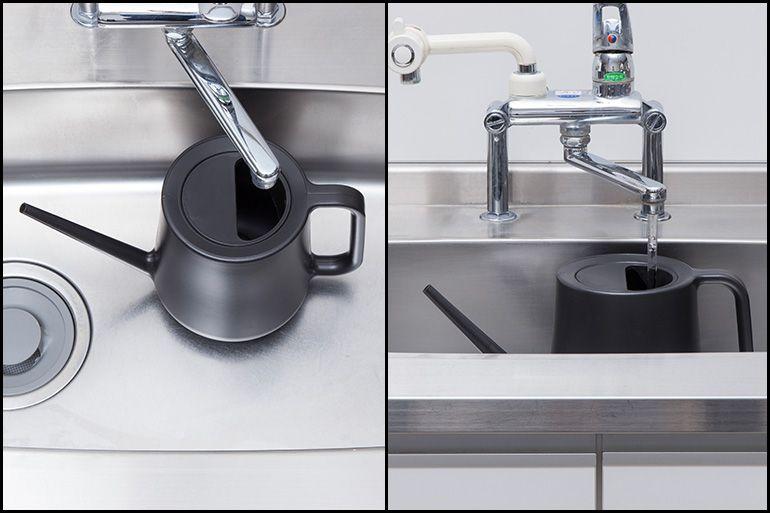 キッチンのシンクで水を入れやすい大きさ